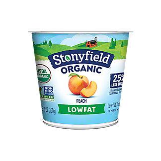 Stonyfield Organic Low Fat Peach Yogurt, 6 OZ