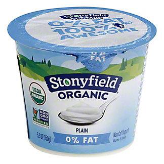 STONYFIELD FARM Smooth & Creamy Fat Free Plain, 6 oz