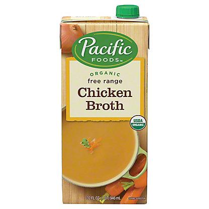 Pacific Foods Organic Free Range Chicken Broth,32.00 oz