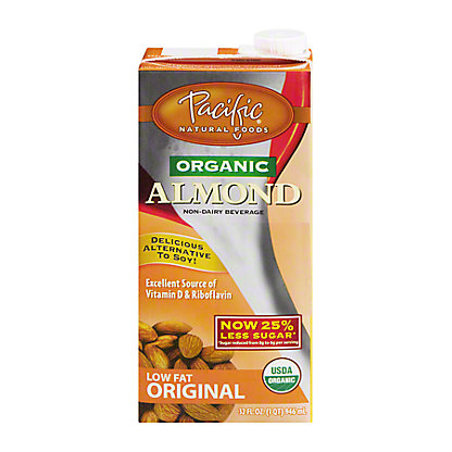 Pacific Pacific Foods Almond All Natural Non-Dairy Low Fat Original Beverage, 32 oz