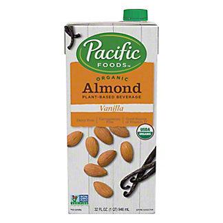 Pacific Organic Almond Non-Dairy Beverage, Vanilla,32 OZ
