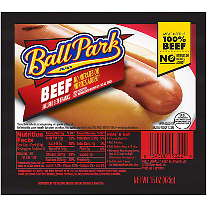 Ball Park Beef Franks,8 CT