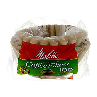 Melitta Basket Coffee Filters, 8-12 Cup, Natural Brown Unbleached Paper,100 CT