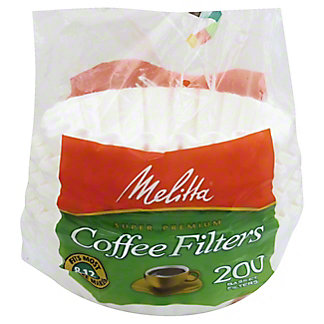 Melitta Basket Coffee Filters, 8-12 Cup, White,200 CT