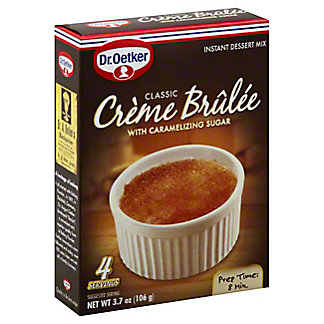 Dr Oetker Classic Creme Brulee with Caramelizing Sugar Instant Dessert Mix,3.7 OZ