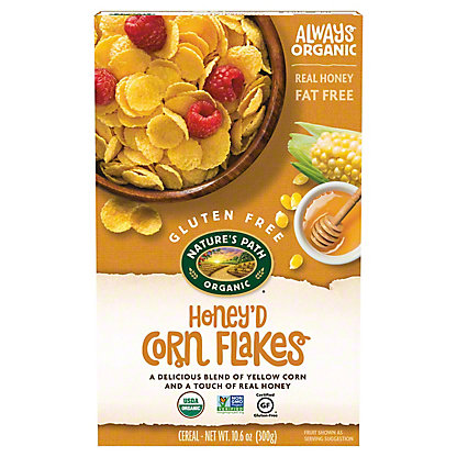 Nature's Path Organic Gluten Free Selections Honey'd Corn Flakes Cereal, 10.6 OZ