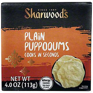 Sharwood's Indian Plain Puppodums,4 OZ
