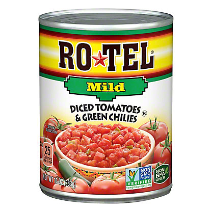Rotel Mild Diced Tomatoes and Green Chilies, 10 oz
