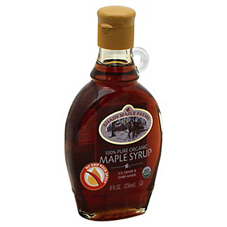 Shady Maple Farms Certified Organic Pure Maple Syrup Dark Amber,8 OZ