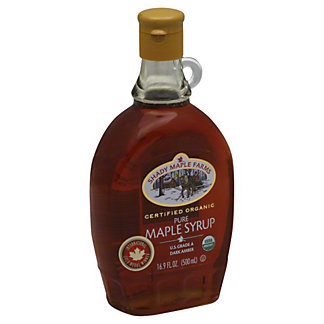 Shady Maple Farms Certified Organic Pure Maple Syrup Dark Amber,16.9 OZ