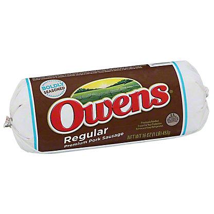 Owens Regular Premium Pork Sausage,16 OZ