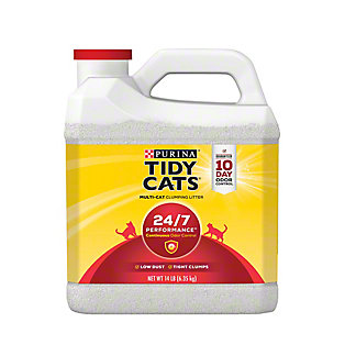 Tidy Cats Scoop 24/7 Performance Cat Litter For Multiple Cats,14 LBS