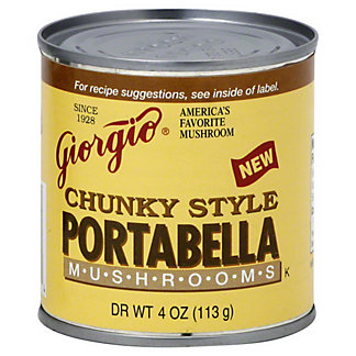 Giorgio Chunky Style Portabella Mushrooms, 4 oz