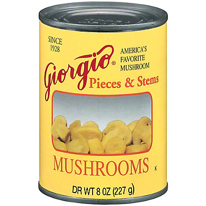 Giorgio Pieces and Stems Mushrooms,8.00 oz