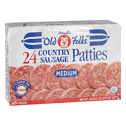 Purnell's Old Folks Sausage Patties, 38 oz