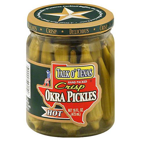 Talk O Texas Hot Crisp Okra Pickles, 16 OZ