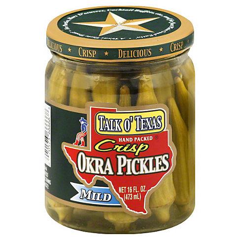 Talk O Texas Mild Crisp Okra Pickles, 16 OZ
