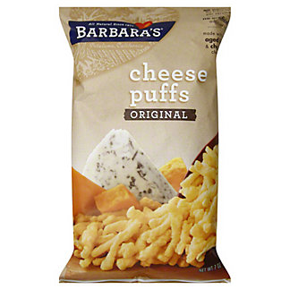 Barbaras Natural One Cheese Puffs,7 OZ
