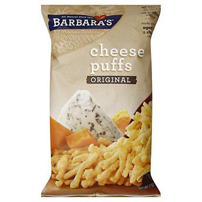 Barbaras Natural One Cheese Puffs,7 OZ