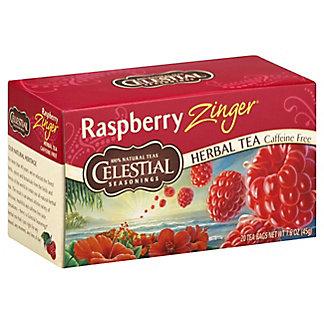 Celestial Seasonings Raspberry Zinger Herbal Tea Bags, 20 ea