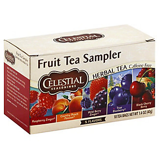 Celestial Seasonings Caffeine Free Fruit Tea Sampler Herbal Tea Bags, 18 ct