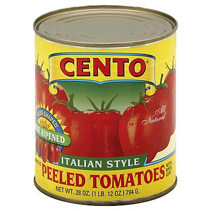 Cento Italian Style Whole Peeled Tomatoes with Basil Leaf, 28 oz