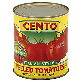 Cento Italian Style Whole Peeled Tomatoes with Basil Leaf, 28 oz