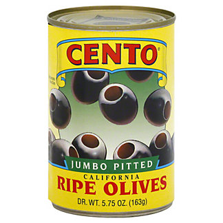 Cento Jumbo Pitted California Ripe Olives,5.75 OZ