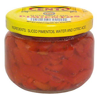 Cento Sliced Sweet Red Pimentos,4 OZ