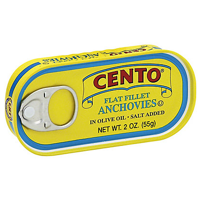 Cento Flat Fillet of Anchovies in Olive Oil, 2 oz
