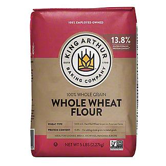 King Arthur 100% Whole Wheat Flour, 5 lbs
