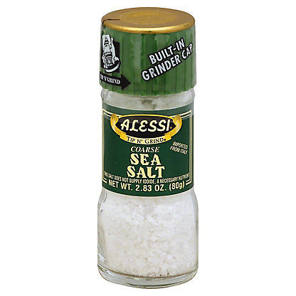 Alessi Tip N' Grind Coarse Sea Salt,2.83 OZ