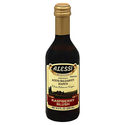 Alessi White Balsamic Raspberry Blush Vinegar, 8.5 oz