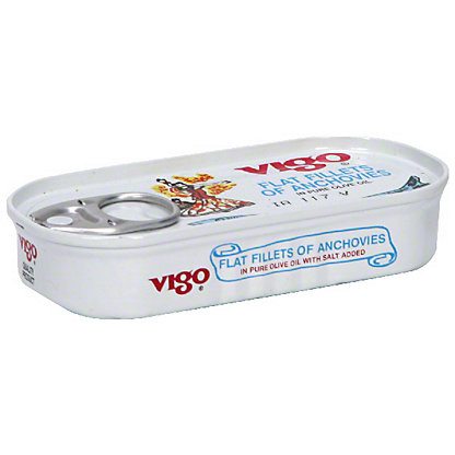 Vigo Flat Fillets of Anchovies in Pure Olive Oil,2.00 oz