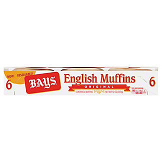 Bays Original English Muffins, 6 ea
