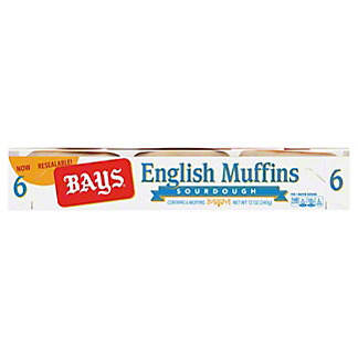 Bays Sourdough English Muffins,6.00 ea