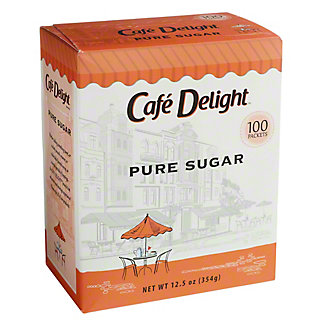 Cafe Delight Extra Fine Granulated Sugar Packets, 100 ea