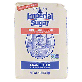 Imperial Sugar Pure Cane Extra Fine Granulated Sugar, 4 lb