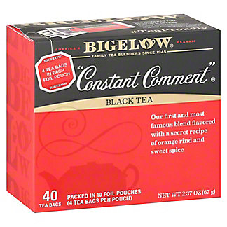 Bigelow Constant Comment Flavored with Rind of Oranges and Sweet Spice Tea Bags Value Pack, 40 ea