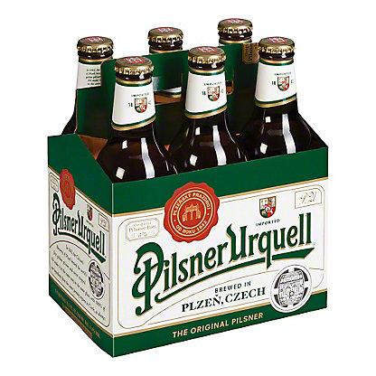 Pilsner Urquell Czech Beer 12 oz Bottles, 6 pk