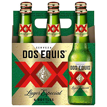 Dos Equis Lager Especial Beer 6 PK Bottles,12 oz