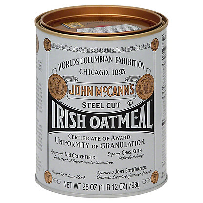 McCann's Steel Cut Irish Oatmeal, 28 oz