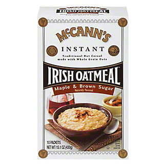 McCann's Instant Maple and Brown Sugar Irish Oatmeal, 15.1 oz