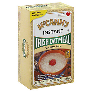 McCanns Irish Oatmeal Instant Oatmeal Variety Pack, 10 packets [12.73 oz (361 g)]