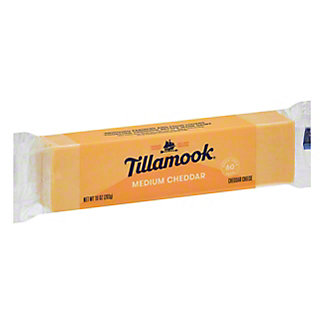 Tillamook Medium Cheddar Cheese,10 OZ