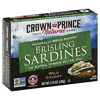 Crown Prince Natural Brisling Sardines In Pure Olive Oil,3.75 OZ