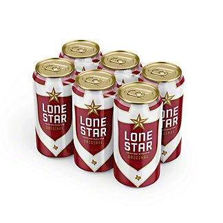 Lone Star Beer 6 PK Cans, 16 oz