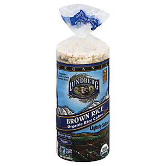 Lundberg Organic Brown Rice Lightly Salted Rice Cakes,8.5 oz