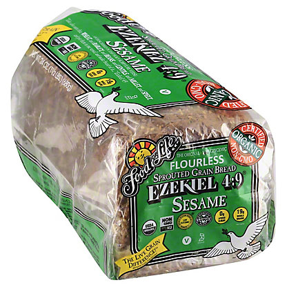 Food For Life Ezekiel 4:9 Sprouted Grain Sesame Bread, 24 oz