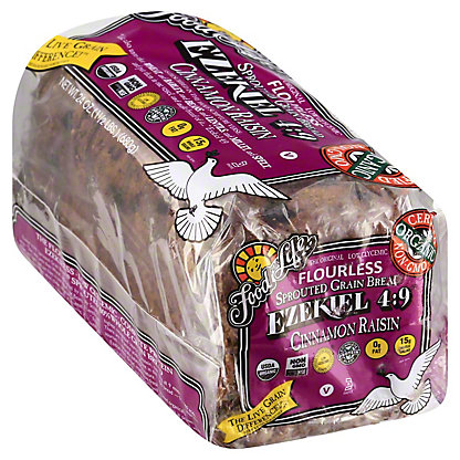 Food For Life Ezekiel 4:9 Sprouted 100% Whole Grain Cinnamon Raisin Bread, 24 oz